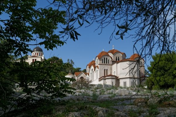 The Church of Agia Marina and the National Observatory, Thission Athens