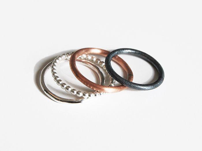 L. COMBO ringar silver - Mila Silver - smycken på nätet