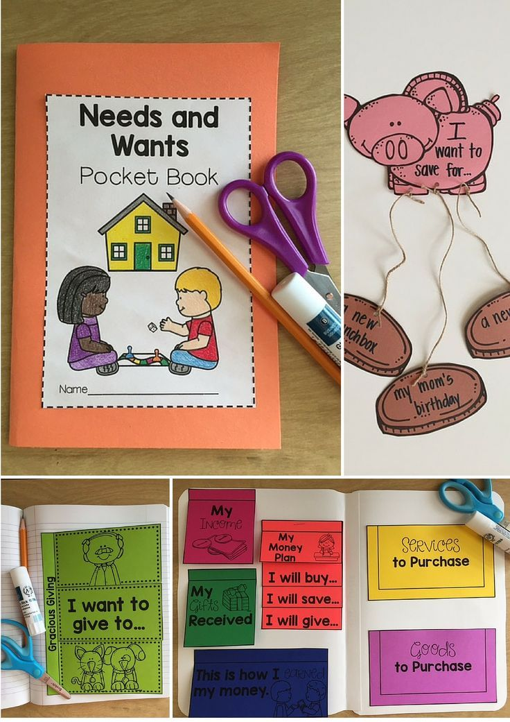 Personal Financial Literacy interactive and engaging activities for kindergarten and first grade! #mrsrichardsonsclass