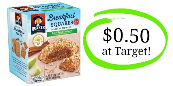 Target: Quaker Breakfast Squares Only $0.50!
