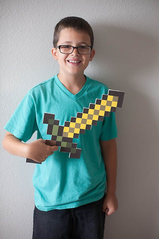 All for the Boys - All for the Boys - Digital To Real Life: DIY Minecraft Sword