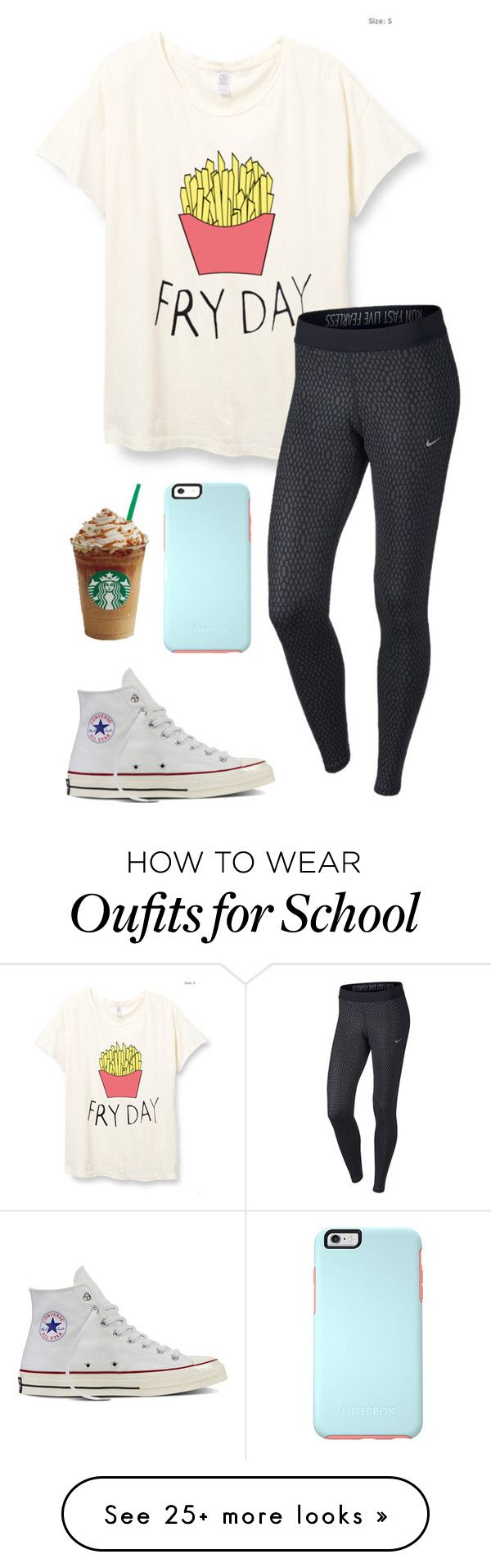 """Another day at school"" by eadurbala08 on Polyvore featuring NIKE and Converse"