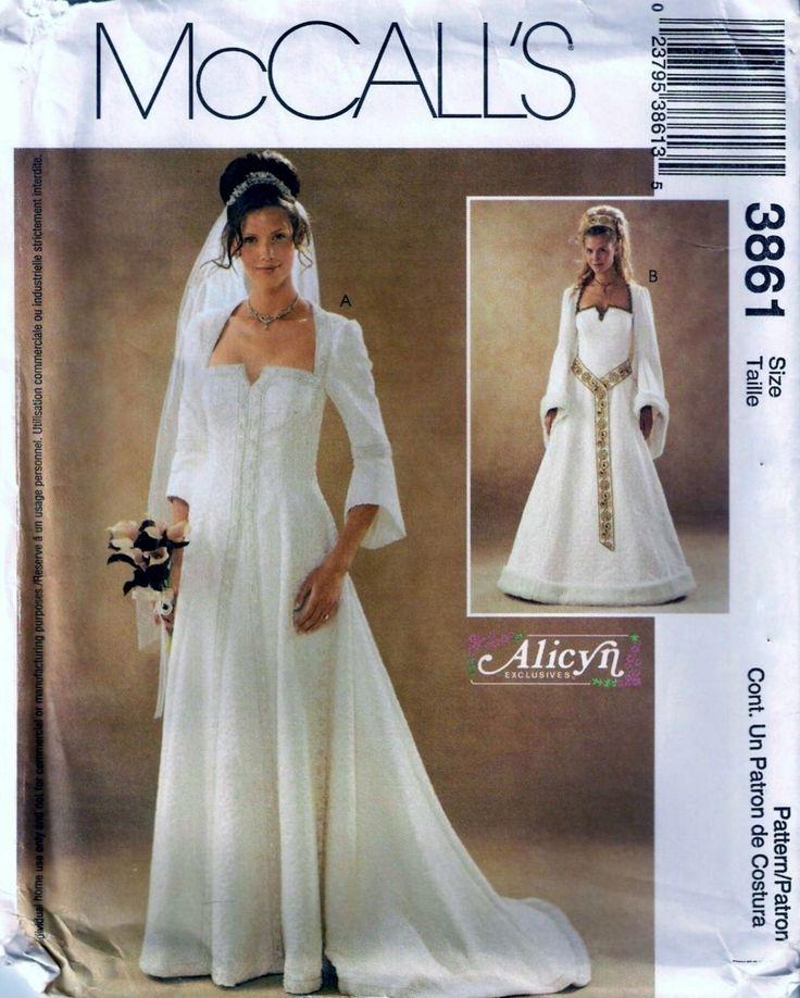 Medieval Wedding Dress Pattern Laced Corset Bridal Gown: McCall's 3861 Mittelalterlichen Renaissance Hochzeit Kleid