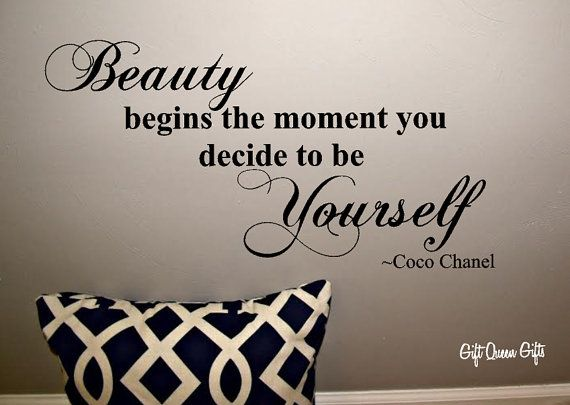 Coco Chanel Quote Wall Decal Beauty Begins The by GiftQueenGifts, $12.99