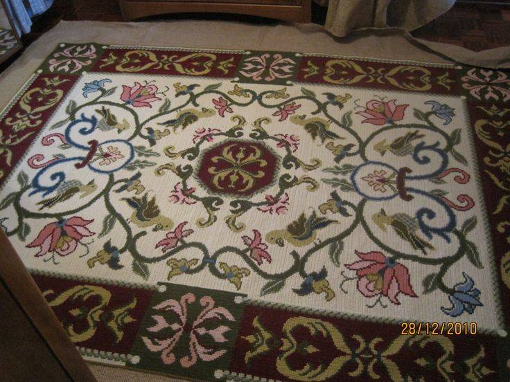 My first Arraiolos carpet...still love it.