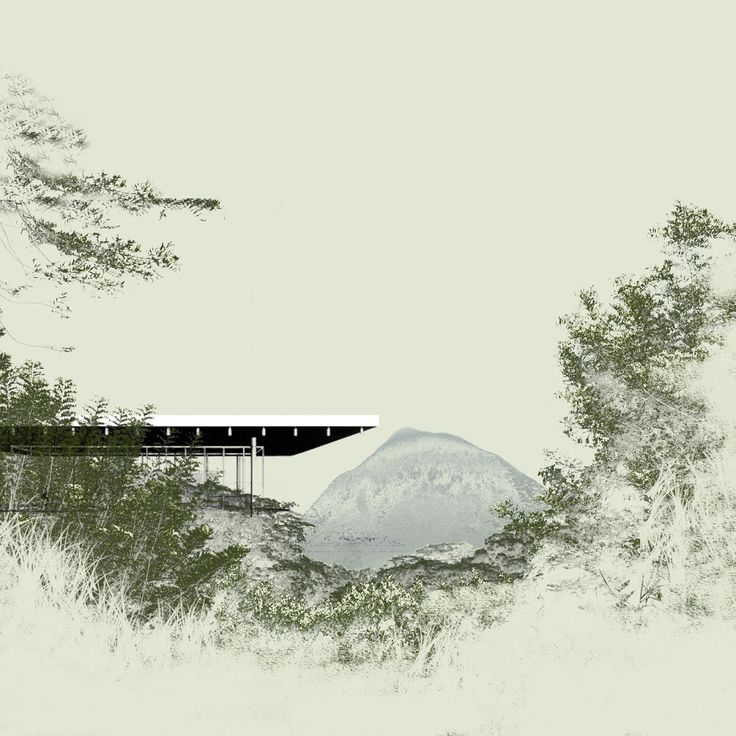 """The New Humboldt Institute of Ecology and Plant Genetics Lara Nixdorf and Laura Brasé @ AHO Oslo School of Architecture and Design, fall semester 2016/2017[tutor: Luis Callejas called """"Behind the hill – into the wild""""]"""