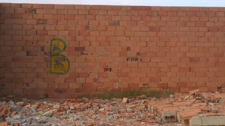 Scrawls and inscriptions like those of the Egyptian age. Is it part of a lost ABC of the landscape? B for Bricks? Was it unfinished, a word waiting to be written, or is it complete in its intent? Was it meant to B?