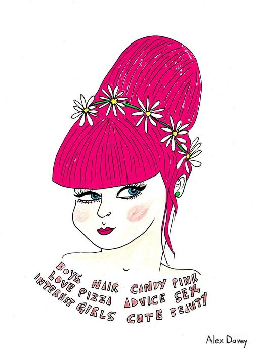 Found an illustration of mine on Pintrest! This was for GirlGuts.com, which is now defunct :(