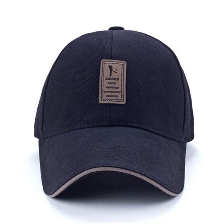 Ediko e logotipo de algodão de boné de beisebol Snapback chapéu boné ao ar livre simples sólida chapéus para homens Gorras osso
