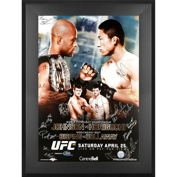 Fanatics Authentic UFC 186 Johnson vs. Horiguchi Framed Autographed 27'' x 39'' 22-Signature Event Poster - $299.99
