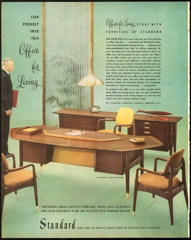 Print Advertisement Continental Omega Office Furniture By