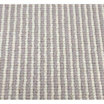 Manx Natural Shades Pinstripe Clay 50% Wool 50% Polypropylene Grey/Cream Loop Stripe Carpet