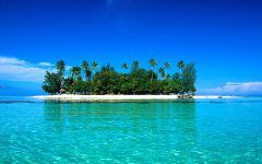 Tropical Beach Water Wallpaper Wide