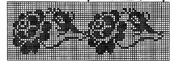 схема филейного узора крючком