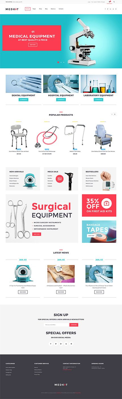 Surgical & Dental Equipment Online Store #WooCommerce #template. #themes #business #responsive #WooCommercethemes