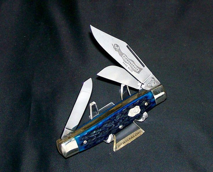 Buck Creek Rattler Knife Bone Stag Hand Made Germany 1970