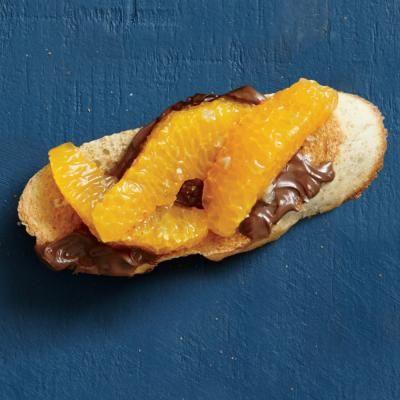Clementine and Tangerine Recipes: Chocolate-Tangerine Bruschetta Recipe | CookingLight.com