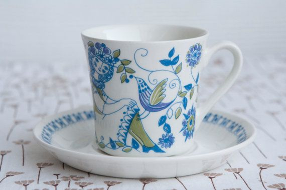 Figgjo Norway 'Lotte' Cup & Saucer by Turi Gramstad by HobbyMum, $24.00