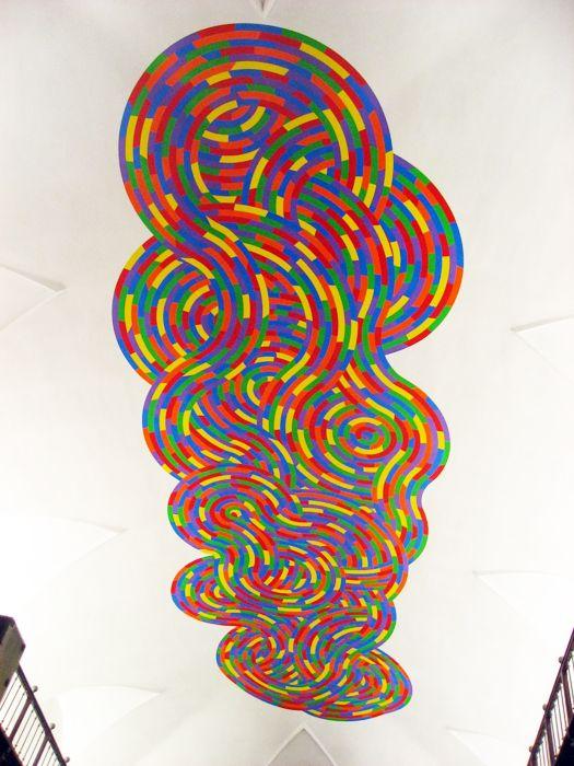 Sol Lewitt, wall drawing#1126, Whirls and Twirls 1, Reggio Emilia