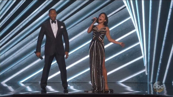"""Billboard Music Awards: Vanessa Hudgens Channels Celine Dion  Hudgens who is hosting the awards show with Ludacris belted out """"The Power of Love"""" onstage.  read more"""
