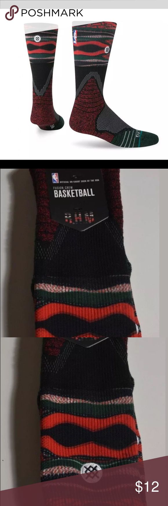 STANCE NBA Crew Basketball Socks Men's Size L 9-12 NEW STANCE NBA Fusion Crew Basketball Socks Black History Month Mens Size L 9-12  Red, multicolor  Black History Month Fusion crew Fit no 559 Crew height Engineered cushioning Active secure support 64% polyester, 22% elastane, 9% combed cotton, 5% elastic M559A17BHM - RED - Red - L Stance Underwear & Socks Athletic Socks