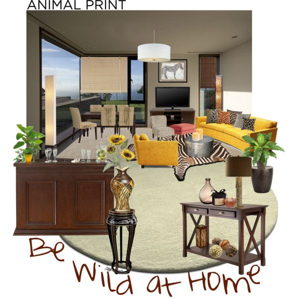Be Wild Love Animal Print By Alejandra Soraires On Polyvore Featuring Interior Interiors