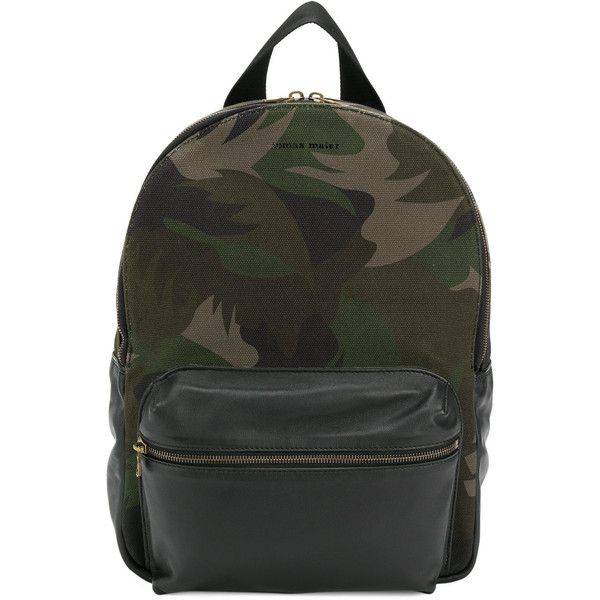 Tomas Maier camo backpack (2.695 RON) ❤ liked on Polyvore featuring men's fashion, men's bags, men's backpacks, green and mens camo backpack