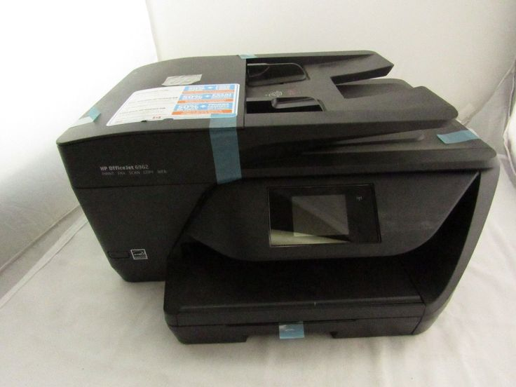 HP 6962 Officejet Aio Color Multifunction Printer, Black