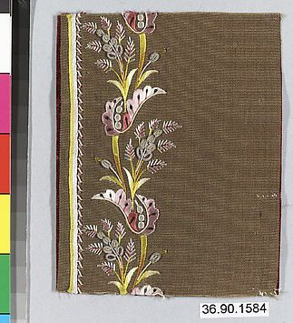Embrodery Sample, France, late 18th-early 19th century  | The Metropolitan Museum
