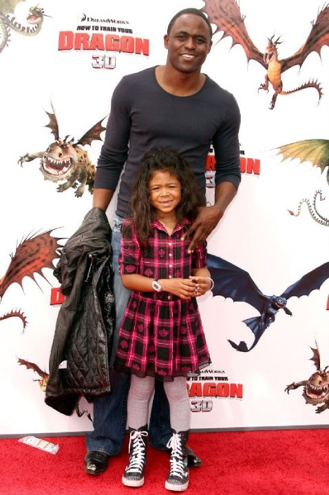 Wayne Brady and 7 year old daughter Maile 7