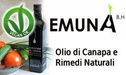 Olio di semi di Canapa bio , www.emuna.it