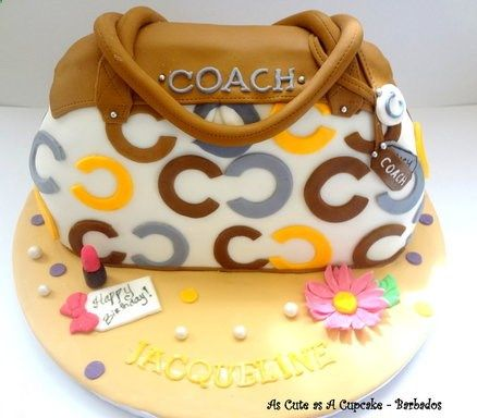 Coach Purse for Jacqueline Cake by Joanna