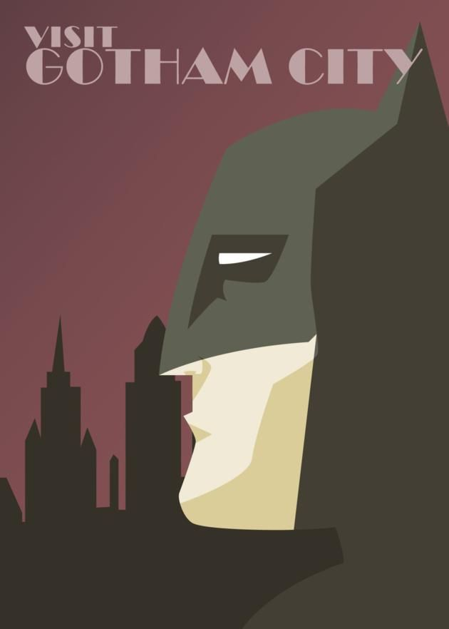 DC Comics Superheroes Travel Posters: Posters Series, The Batman, Gotham Cities, Boys Rooms, Dc Comic, Dave Ault, Travel Posters, Artdeco, Art Deco Posters