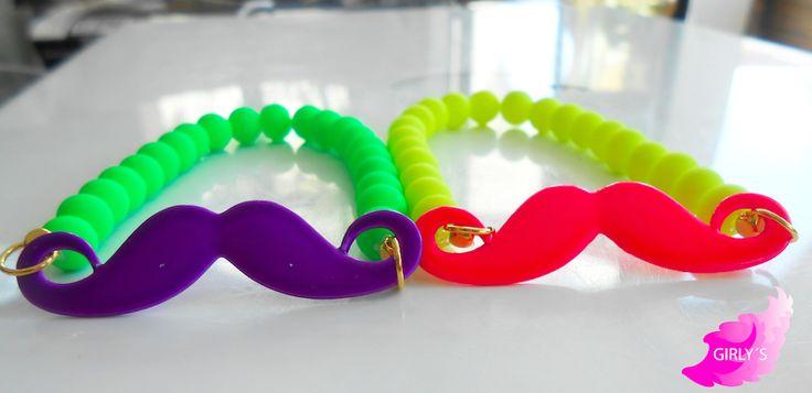 Da una Imagen de Impacto, utilizando estas hermosas pulseras color neon, por tan solo $50.00 #neon #pulseras