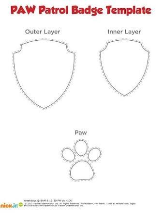 paw patrol badge templates - Google Search
