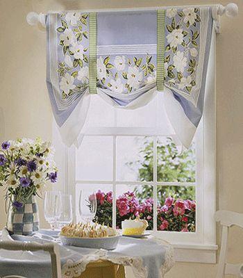 kitchen window treatment ideas pictures | kitchen-window-curtains-curtain-treatment-ideas-fabric