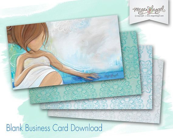 Doula Business Card Blank Template for Immediate Download - Midwife, Childbirth Educator