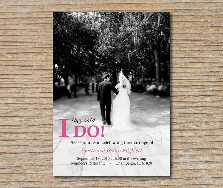 Reception After Destination Wedding Invitation: Wedding Reception Invitations Already Married