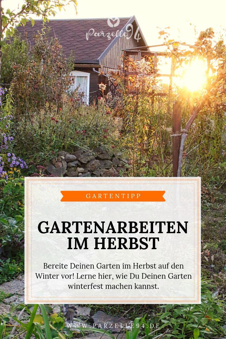 Im Herbst stehen noch einige wichtige Gartenarbeit…