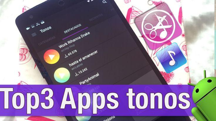 Top 3: Apps de tonos para ANDROID 2017 (Crear o Descargar Ringtones Gratis) https://www.zonatopandroid.com/apps-tonos-ringtones-gratis/ #musica #personalizar #Android