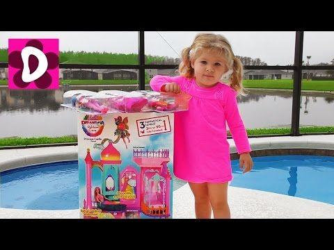Барби ПОДАРКИ Под Подушкой на Св.Николая для Дианы Замок Barbie Принцессы и Много Игрушек для Детей    {{AutoHashTags}}
