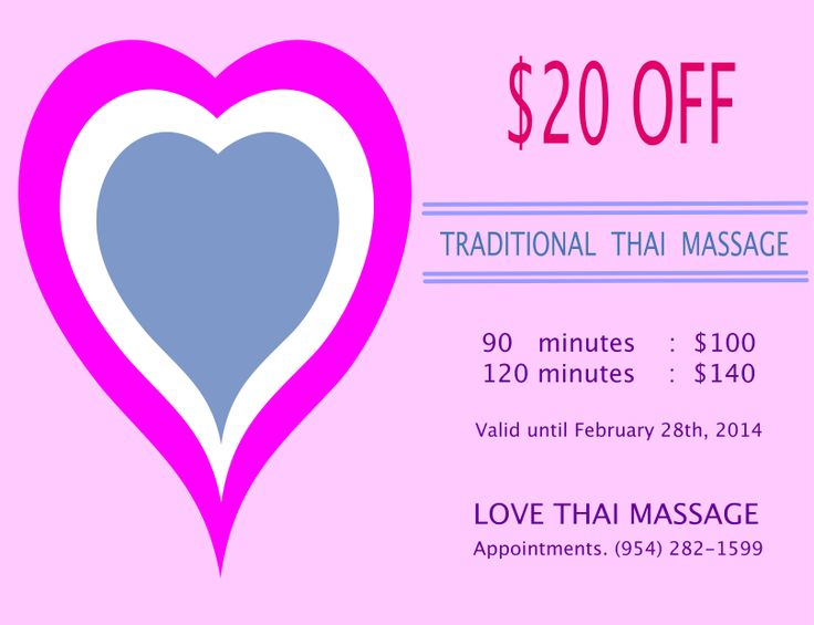 Promotion of the month of love traditional thai massage