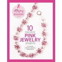 """Honor breast cancer awareness with 10 pink beaded jewelry patterns   InterweaveStore.com  features my """"starburst"""" necklace on the cover and contains the diy article :-)"""