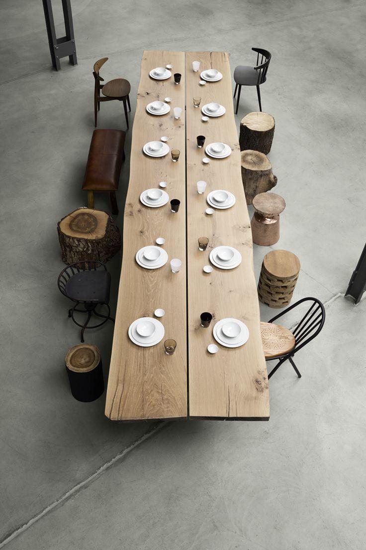 die besten 25 holztisch rund ideen auf pinterest. Black Bedroom Furniture Sets. Home Design Ideas
