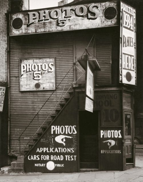 License Photo Studio, New York, Photo by Walker Evans, 1934