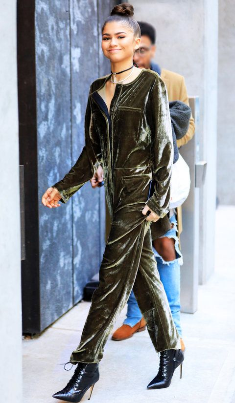 On Tuesday, the star left Good Morning America wearing an olive green velour jumpsuit from her own brand, Daya. And drum roll please ... it's only $68. So yeah, she wins.