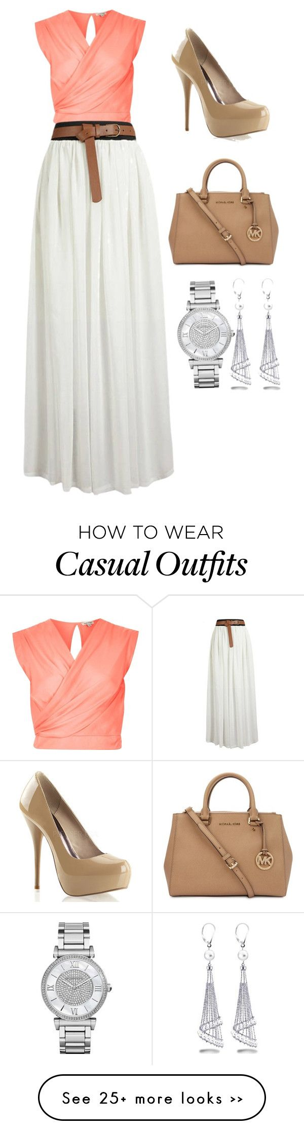 """""""Casual"""" by leah-fedder on Polyvore featuring River Island, Michael Kors and Allurez"""