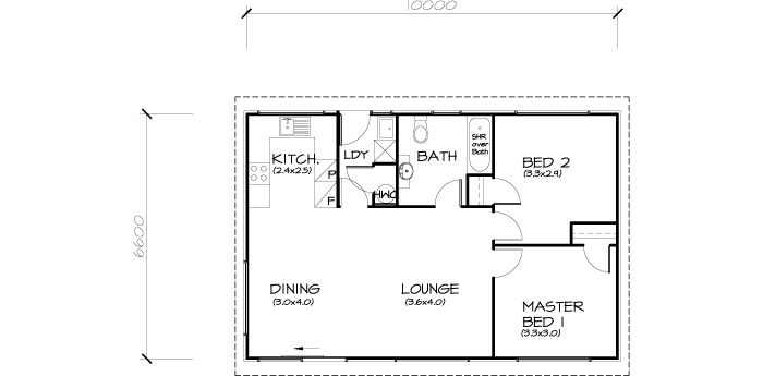 2 bedroom 9 square plan for building - Google Search