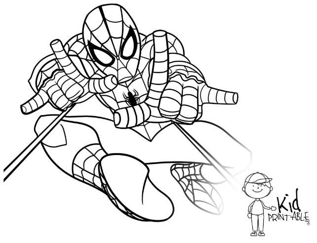 marvel heroes coloring pages spiderman - photo#16