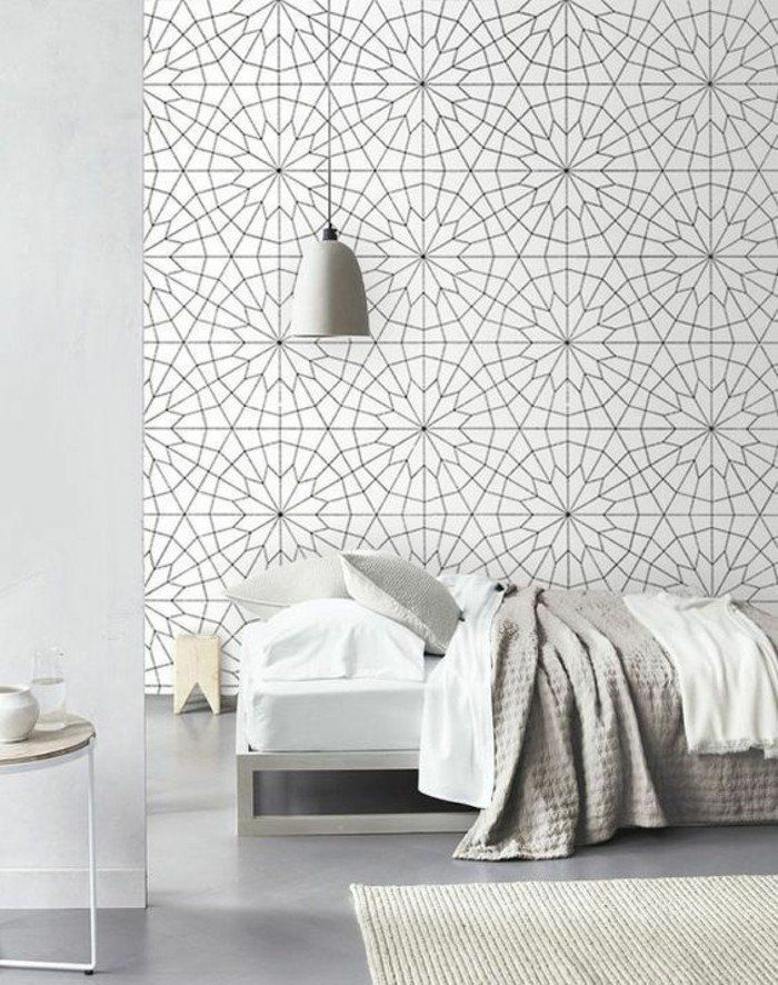 10 id es propos de papier peint g om trique sur pinterest papier peint du salon fond d 39 or. Black Bedroom Furniture Sets. Home Design Ideas
